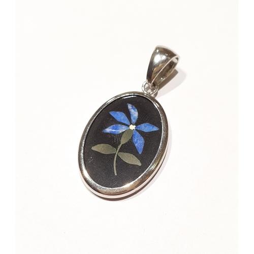 Pendente fiore blu